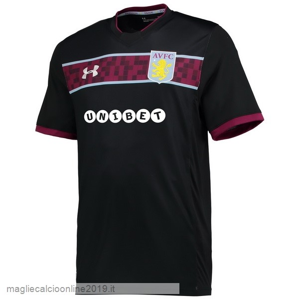 Maglie Originali Calcio Under Armour Away Maglia Aston Villa 17-18 Nero