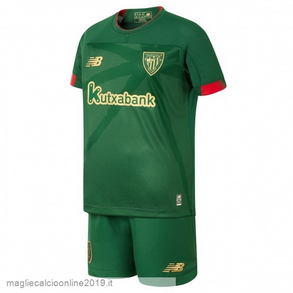 Maglie Originali Calcio New Balance Away Set Completo Bambino Athletic Bilbao 2019 2020 Verde