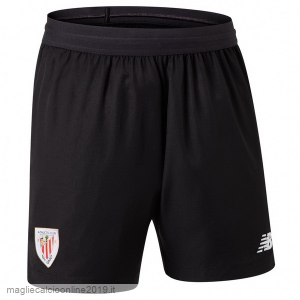 Maglie Originali Calcio New Balance Home Pantaloni Athletic Bilbao 2019 2020 Nero