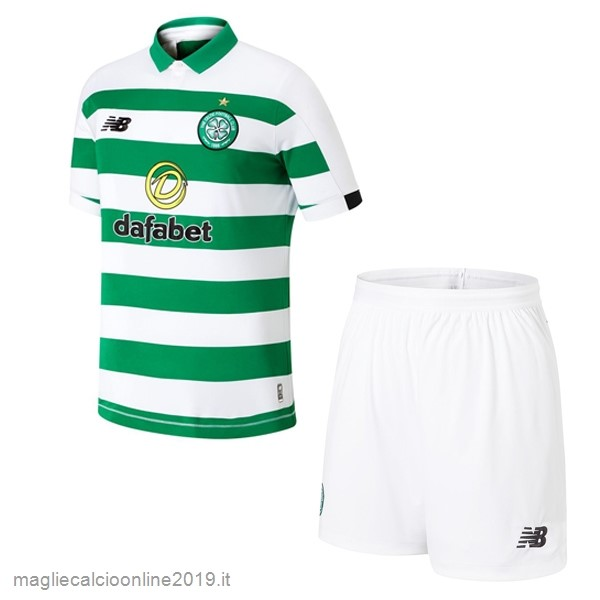 Maglie Originali Calcio New Balance Home Set Completo Bambino Celtic 2019 2020 Verde
