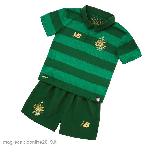 Maglie Originali Calcio New Balance Away Set Completo Bambino Celtic 17-18 Verde