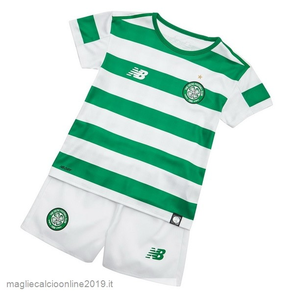 Maglie Originali Calcio New Balance Home Set Completo Bambino Celtic 18-19 Verde