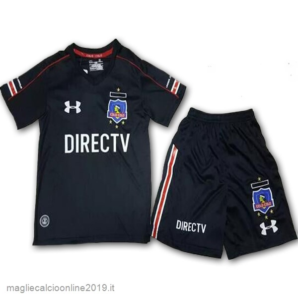 Maglie Originali Calcio Under Armour Away Set Completo Bambino Colo Colo 2017 Nero