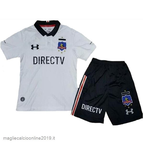 Maglie Originali Calcio Under Armour Home Set Completo Bambino Colo Colo 2017 Negro Bianco