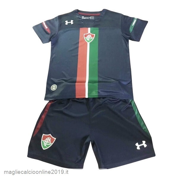 Maglie Originali Calcio Under Armour Terza Set Completo Bambino Fluminense 2019 2020 Nero