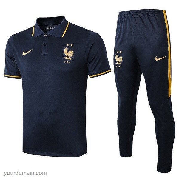 Maglie Originali Calcio Nike Set Completo Polo France 2019 Blu Navy