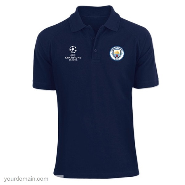 Maglie Originali Calcio Puma Polo Manchester City 2019 2020 Blu Navy