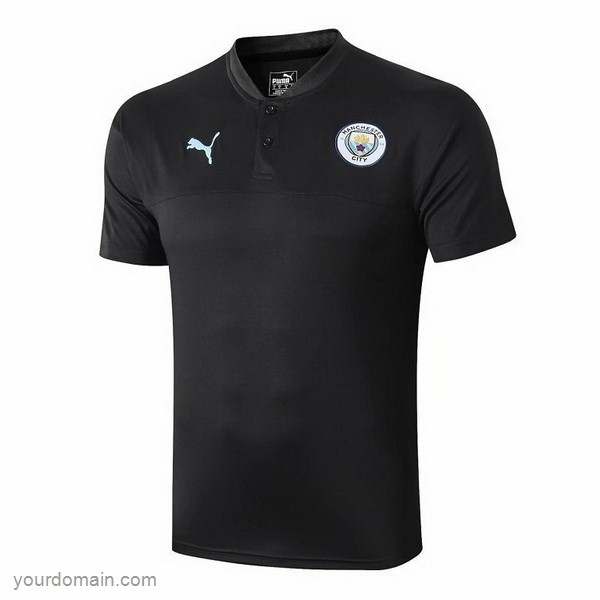 Maglie Originali Calcio Puma Polo Manchester City 2019 2020 Nero Blu