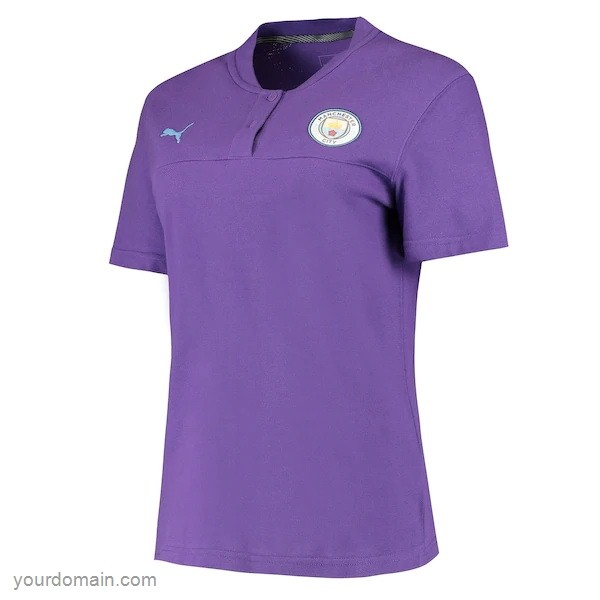 Maglie Originali Calcio Puma Polo Manchester City 2019 2020 Purpureo