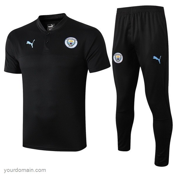 Maglie Originali Calcio Puma Set Completo Polo Manchester City 2019 2020 Nero