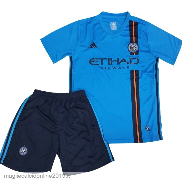 Maglie Originali Calcio Adidas Home Conjunto De Bambino New York City 2019 2020 Blu