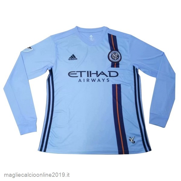 Maglie Originali Calcio Adidas Home Manica lunga New York City 2019 2020 Blu