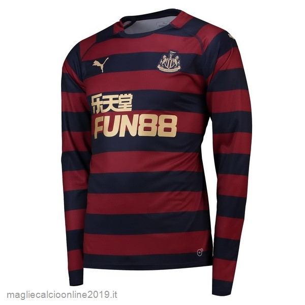 Maglie Originali Calcio PUMA Away Manica Lunga Newcastle United 18-19 Rosso