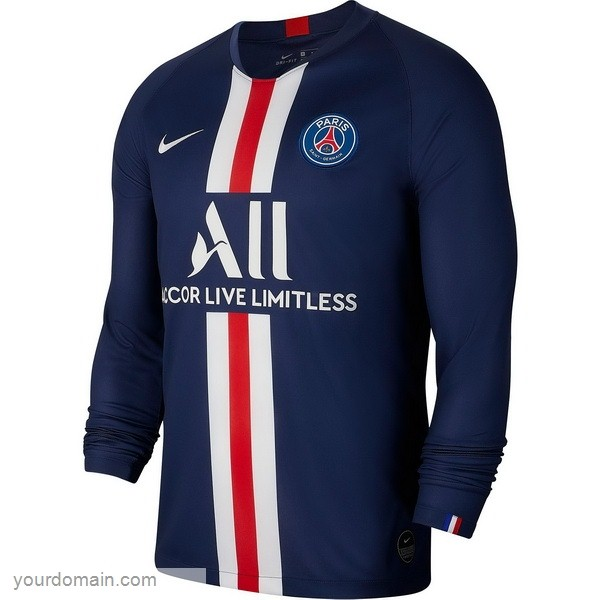 Maglie Originali Calcio Nike Home Manica lunga Paris Saint Germain 2019 2020 Blu