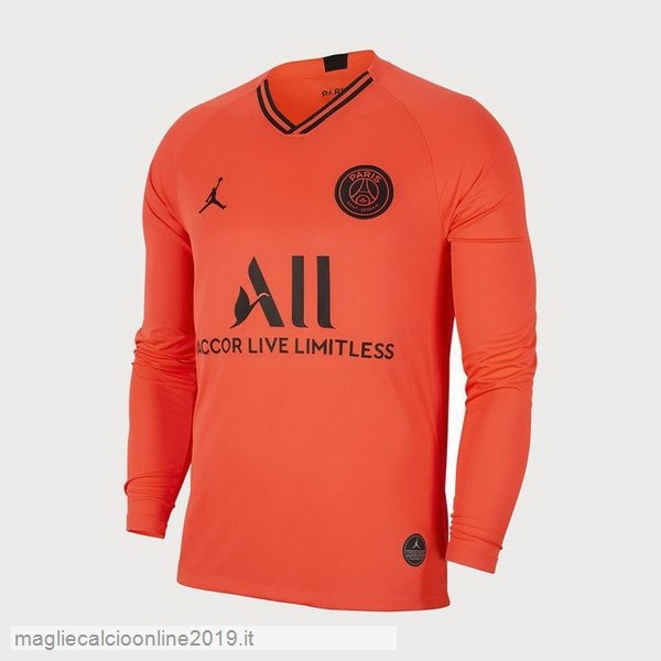 Maglie Originali Calcio JORDAN Away Manica lunga Paris Saint Germain 2019 2020 Oroange