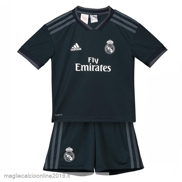 Maglie Originali Calcio adidas Away Set Completo Bambino Real Madrid 18-19 Nero