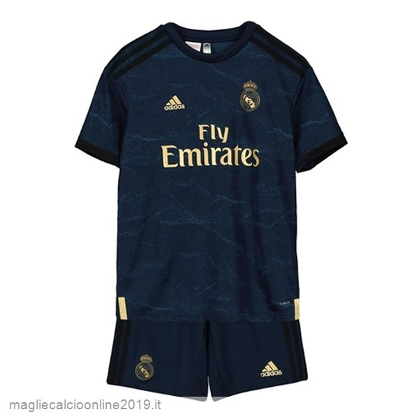 Maglie Originali Calcio Adidas Away Set Completo Bambino Real Madrid 2019 2020 Blu