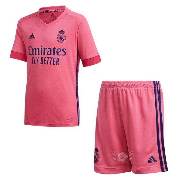 Maglie Originali Calcio adidas Away Conjunto De Bambino Real Madrid 2020 2021 Rosa