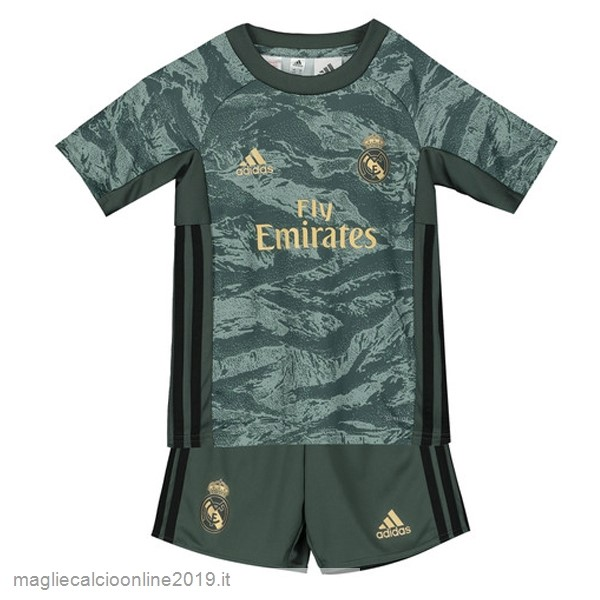 Maglie Originali Calcio adidas Away Set Completo Bambino Portiere Real Madrid 2019 2020 Verde