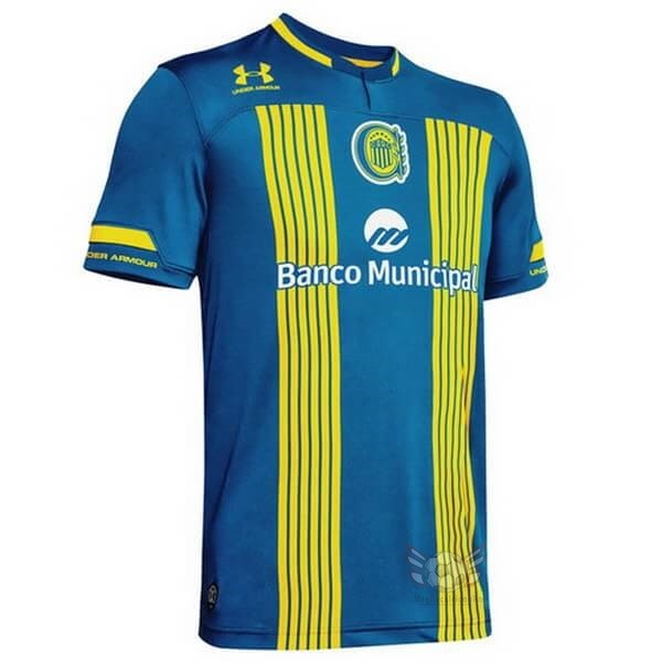 Maglie Originali Calcio Under Armour Home Maglia CA Rosario Central 2020 2021 Blu Giallo
