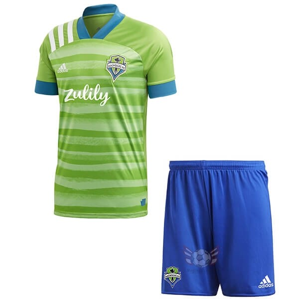 Maglie Originali Calcio adidas Home Set Completo Bambino Seattle Sounders 2020 2021 Verde