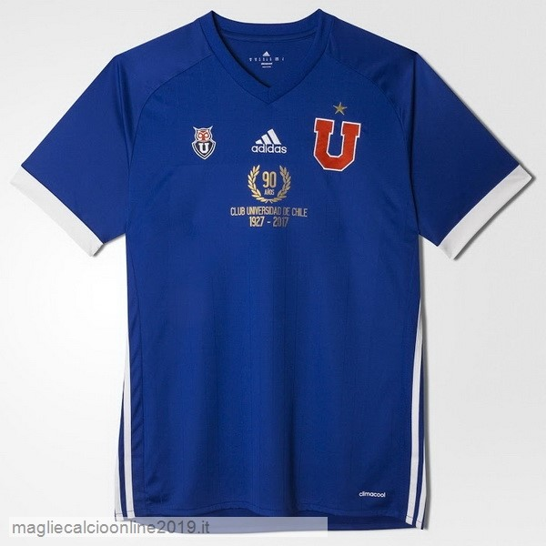 Maglie Originali Calcio adidas Home 90th Maglia Universidad De Chile 1927 2017 Blu